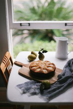 Ricotta Maple + Sand Pear Cake   lean + meadow