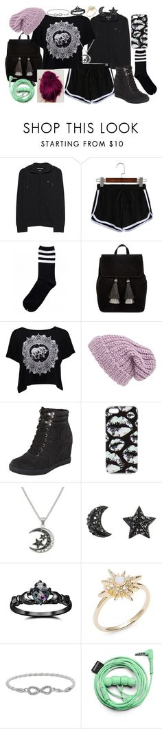 """#42"" by moon-crystal-wolf ❤ liked on Polyvore featuring True Religion, Loeffler Randall, Boohoo, Phase 3, Markus Lupfer, Fidelity, Tai, Malin + Mila and Urbanears"