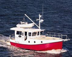 Trawler Boats | The Great Harbor is a trawler that's ideal for couples who plan on ...  Nice flush deck for parties