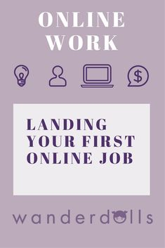How to get your first online job — Wanderdolls