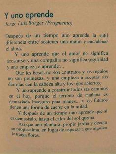 Y uno aprende. Jorge Luis Borges