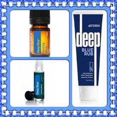 Relax into the deep blue.   This wonderful oil helps with muscle pain, tension, bruises, headaches and so much more!    Www.mydoterra.com/Sharesemulligan