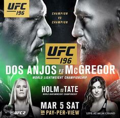 Will McGregor be the first UFC fighter to hold two championship belts at the same time? Ufc 196, Metro Goldwyn Mayer, Kickboxing, Muay Thai, Notorious Mcgregor, Cat Zingano, Miesha Tate, Martial, Boxing