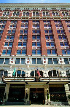 The historic Davenport Hotel in Downtown Spokane, Washington, USA