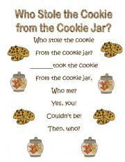 Cookie Jar Song Adorable 22 Best Who Stole The Cookie From The Cookie Jar Preschool Ideas