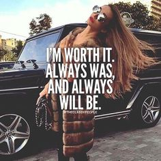 Happy Friday #Bossladies, and just so you know: you're worth it! -pic : @theclassypeople