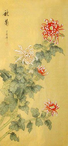 crysanthemum paintings | Chrysanthemum,40cm x 80cm(16〃 x 31〃),2336071-z