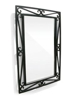 Iron Cantilevered Scroll Mirror