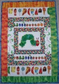 The Very Hungry Caterpillar Crib Quilt Kit - Gail Kesslers Ladyfingers Sewing Studio - Fabric, Notions, Needles, Patterns and Sewing Classes