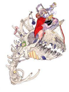 Yoshitaka Amano - Strago Magus - Final Fantasy VI