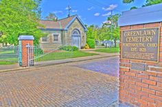 Greenlawn Cemetery - Offnere Street Entrance - HDR Photo