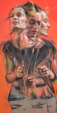 Distortion Art, Advanced Higher Art, Street Art, A Level Art Sketchbook, Reflection Art, Ap Studio Art, Identity Art, Ap Art, Graffiti