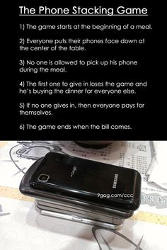 The Phone Stacking Game