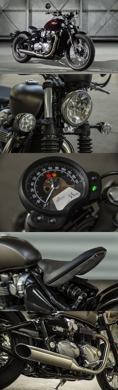 Red Hot Triumph Bonneville Bobber Revealed; Details and Snaps Inboard