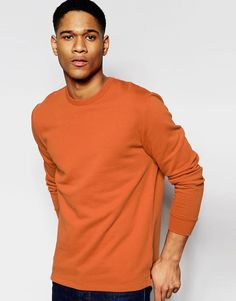 ASOS Sweatshirt In Orange