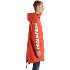 Dsquared2 Men K-way Reversible Nylon Rain Coat ($455) ❤ liked on Polyvore featuring men's fashion, men's clothing, men's outerwear, men's coats, mens raincoat, mens rain coat, raincoat mens outerwear and mens full length coat