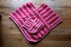 "Free 18"" Doll Poncho Pattern (shown on American Girl!) with a link to matching one for the little girl!"
