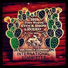 2013 Fort Worth Stock Show badges. #fwssr