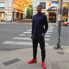 Tristan Thompson of the Cleveland Cavaliers. Idk bout that outfit...but he is fine lol