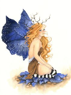 Fairy Art Original Watercolor Painting  9x12 by AWoodlandFairyTale, $100.00