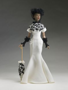"Tyler Wentworth ""C'est Parfait"" Theatre de la Mode dressed doll by Tonner, 2006. This reminds me of Audrey Hepburn at the races in ""My Fair Lady""!"