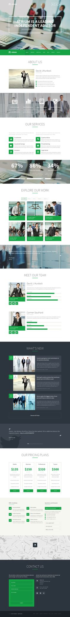 Atrium - Responsive Corporate One Page Template on the Adweek Talent Gallery