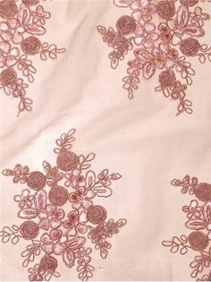 Tulle Lace TL Bellaire Blush - Bridal Fabric by the Yard