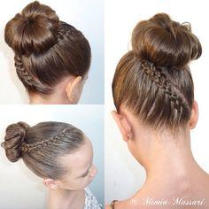 Likes, 66 Comments - Braids & Hairstyles (Mimia Massari) on Strand Lace Braid and 5 Strand Dutch Lace Braid into a Bun Inspired by bieamanda click now for more info. Lil Girl Hairstyles, Ballet Hairstyles, Braided Hairstyles, School Hairstyles, Updo Hairstyle, Braided Updo, Prom Hairstyles, Girl Hair Dos, Baby Girl Hair