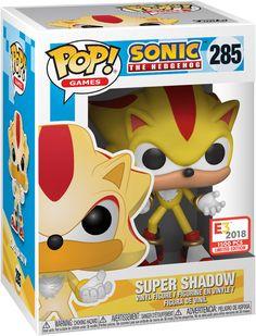 Funko Pop Dolls, Funko Pop Figures, Vinyl Figures, Shadow The Hedgehog, Sonic The Hedgehog, Super Shadow, Marvel Room, Sonic Birthday, Pop Figurine