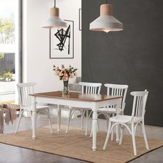 Decoration, Dining Table, House, Furniture, Home Decor, Pink, Modern Counter Stools, White Dining Chairs, Decor