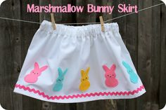 marshmallow bunny skirt by dandelions and lace