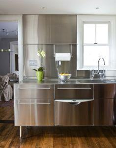 Edelstahl Küche Küchenzeile klein platzsparend