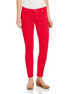 7 For All Mankind Womens Skinny Colored Jean Ankle Pant