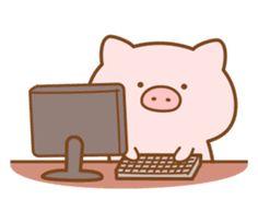 Cute Baby Pigs, Cute Piggies, Mini Drawings, Kawaii Drawings, Kawaii Pig, Pig Wallpaper, Pig Drawing, Pig Art, Kawaii Illustration