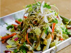 Gado Gado is traditionally made from a peanut sauce and well known as a comforting Indonesian salad. This recipe is a great alternative to using peanuts and consists of nothing but fresh, flavorsome ingredients!