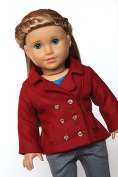 """Peacoat 18"""" Doll Clothes"""