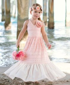 mia belle baby Look what I found on Pink Lace & Champagne Ruffle Maxi Dress - Toddler & Girls Toddler Girl Dresses, Little Girl Dresses, Flower Girl Dresses, Toddler Girls, Lace Ruffle, Pink Lace, Lace Dress, Girls Special Occasion Dresses, Baby Girl Princess