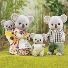 Calico Critters Outback Koala Family Set for sale online Calico Critters Families, Sylvania Families, Rosalie, Toy R, Family Set, Kids Store, Toy Store, Toys R Us, Baby Wearing