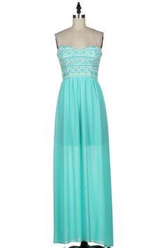 Colors of Spring Maxi Dress- Mint