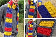 We love this crochet Lego Scarf and you will too.  Get the instructions now.