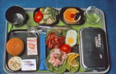 In the 1970s, those in economy would have received a plate of food looking something like this, featuring prawns,smoked salmon and egg