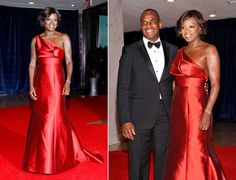 Viola Davis is on fire in this dazzling red dress at the White House Correspondent's dinner in Washington, D.C.