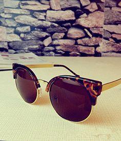 0620ef2c0d Vintage Steam Punk Tops Women Round Designer Cat Eye Sunglasses http   www.