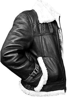 Bestzo Mens Fashion America Black Panther Civil War Captain Leather Jacket