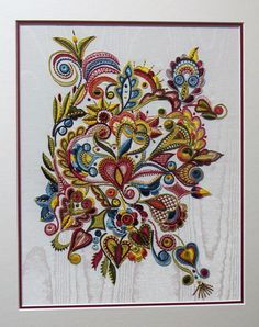 Three Wishes - DK Designs Brazilian Embroidery pattern & fabric - Embroidery Design Guide Jacobean Embroidery, Tambour Embroidery, Hand Embroidery Videos, Embroidery Sampler, Ribbon Embroidery, Embroidery Stitches, Embroidery Patterns, Machine Embroidery, Broderie Bargello
