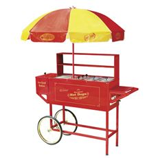 Large Hot Dog Cart with Umbrella - Bed Bath & Beyond