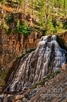 Rustic Falls - Northwest part of Yellowstone Park