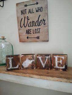 Rustic West Virginia Blocks Love West Virginia by witheyesunlocked