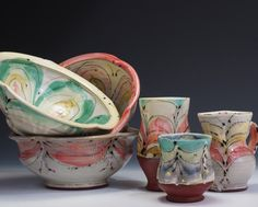 Pincu Pottery bowls and cups