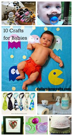 10 Crafts for Babies and Expectant Mothers! #baby